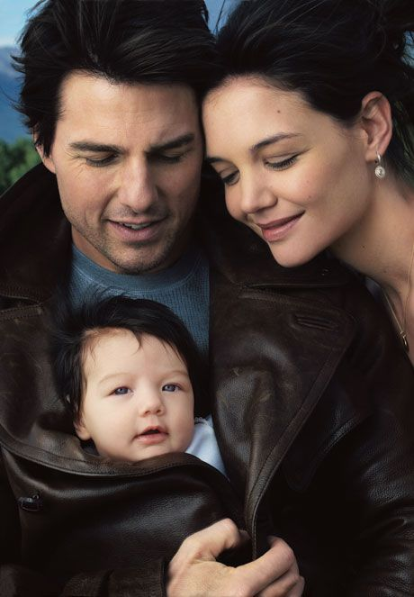 Tom Cruise, Katie Holmes and Suri Cruise photographed by Annie Leibovitz for the cover of Vanity Fair October 2006.