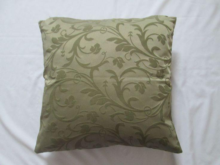 Quality Flock Leaf Cotton Cushion Cover Khaki Green 16