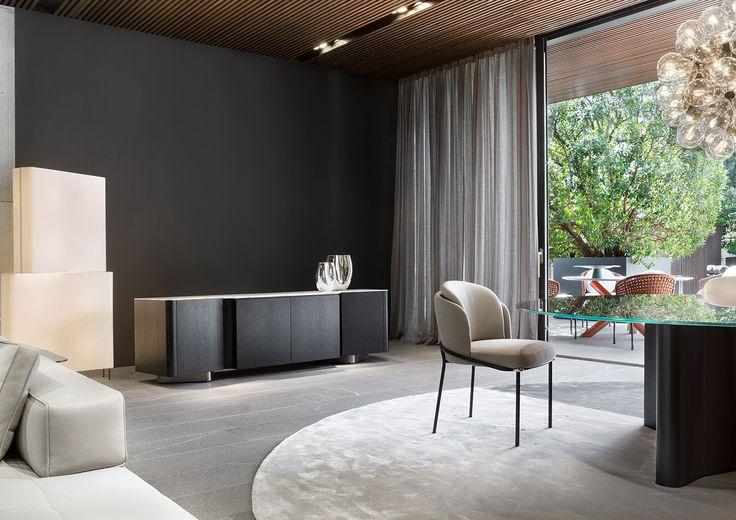 "Lou ""Sideboard"", Fil Noir ""Dining"" chair, Christophe Delcourt design."