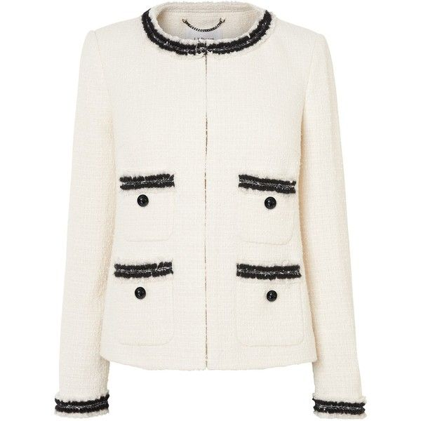 L.K. Bennett Charl Jackets ($385) ❤ liked on Polyvore featuring outerwear, jackets, cream, women, white boucle jacket, boucle jackets, cream boucle jacket, cream jacket and formal jackets