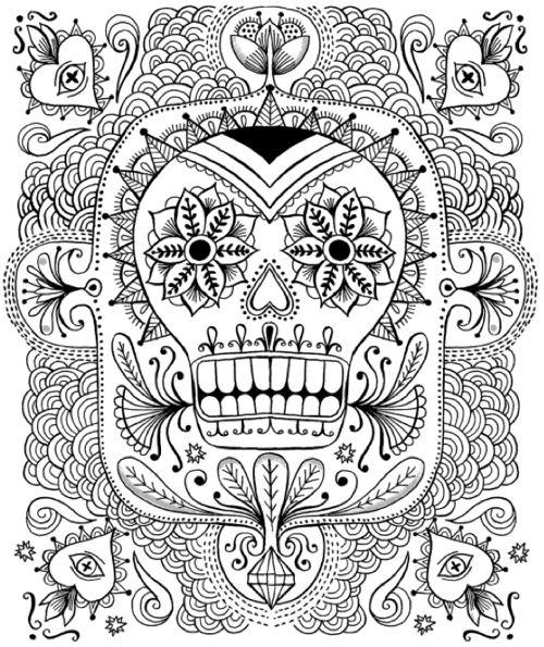 147 best Coloring Book images on Pinterest Coloring pages - copy dia de los muertos mask coloring pages
