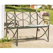 scroll metal bench