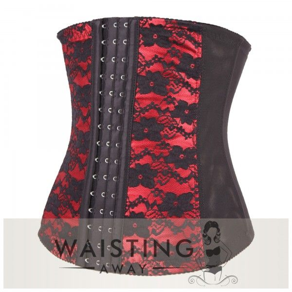 Red 7 Steel Bone Flower Sleeper Waist Trainer Corset