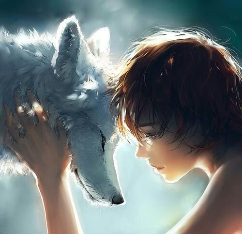 Made me think of Wolf Brother (by Michelle Paver)