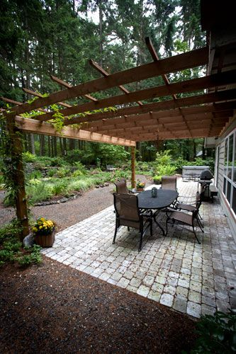 Paver patio and Pergola