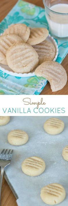 The taste of sweet vanilla -- which so often features only as a background flavor -- shines in these Simple Vanilla Cookies. Not only is this recipe quick and easy to make, it can be prepared with minimal mess.
