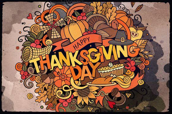 SALE Happy Thanksgiving Day by balabolka on @creativemarket https://crmrkt.com/05M6r