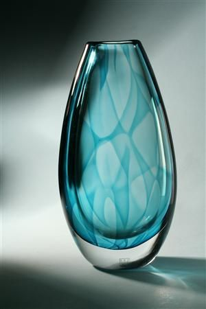 Vase, 'Colora'. Designed by Vicke Lindstrand for Kosta, Sweden, 1950s