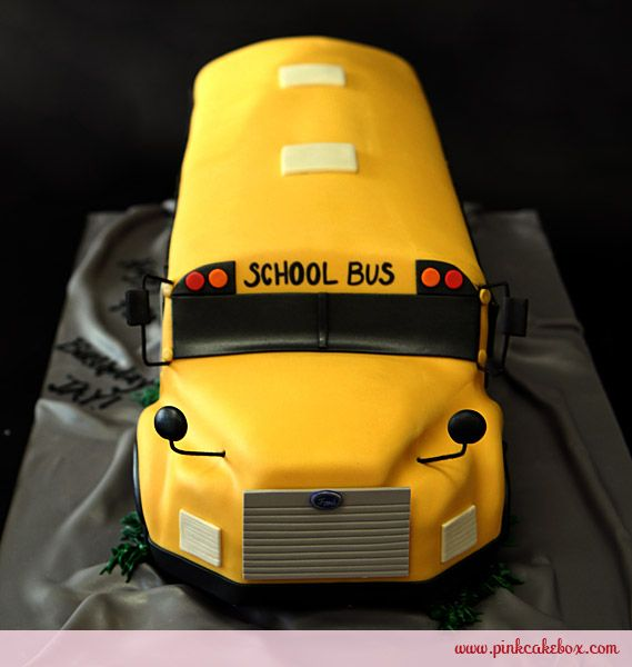 Birthday School Bus Cake by Pink Cake Box in Denville, NJ.  More photos at http://blog.pinkcakebox.com/birthday-school-bus-cake-2010-12-29.htm  #cakes