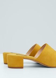 Leren slingback sandalen