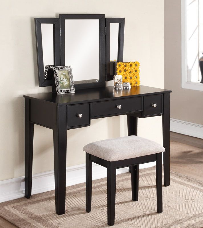 Best 25+ Black Makeup Vanity Ideas On Pinterest | Black Makeup Table, Black  Ikea Makeup Vanity And Vanities