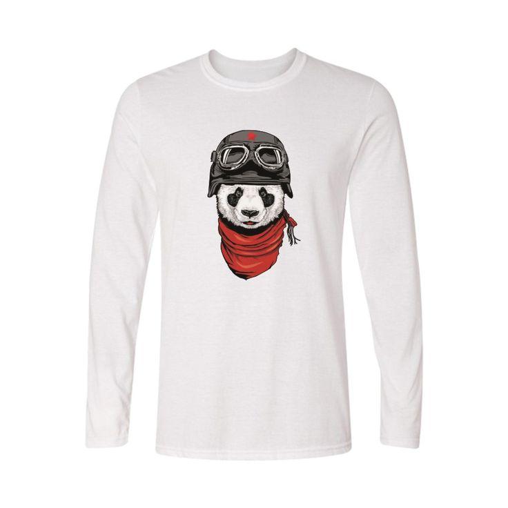 Funny Panda Shirt Women T-shirt Long Sleeve TShirt Womens Top and Loose TShirt Women Printed in Street Wear Style Cotton Tees