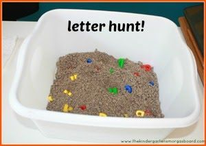 Chicka Chicka Boom Boom Letter hunt!  Great hands on letter activity!