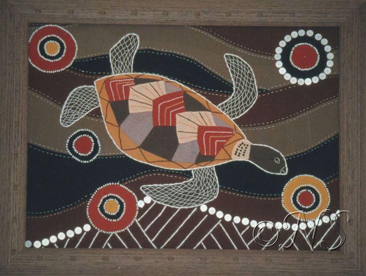 Bead Embroidery Tortue aborigène