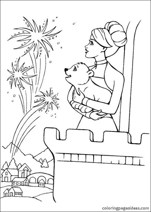 9 best Barbie Coloring Pages images on Pinterest | Barbie coloring ...