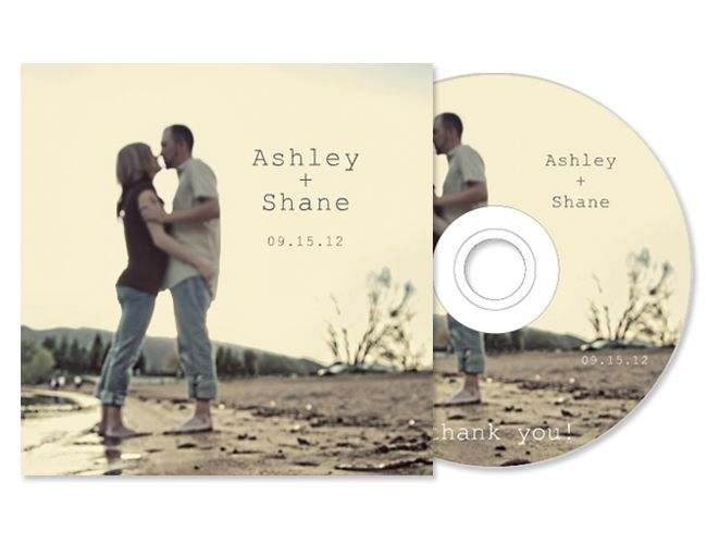 CD Sleeve :: Custom Wedding Favor :: Wedding Soundtrack