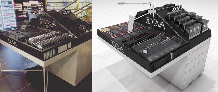 Makeup Table creation for ZOEVA cosmetics. Displayed in Selfridges London, Douglas Oslo and other stores ... Design by ©Studio Homewerk www.homewerkberlin.com