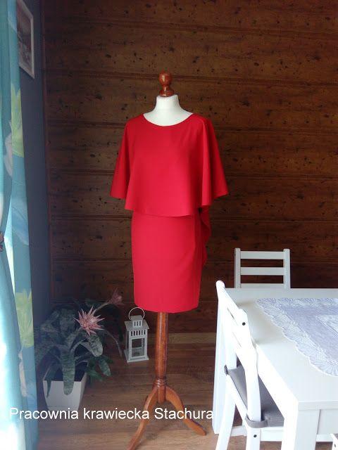 Pracownia krawiecka  Stachura : Czerwona sukienka.