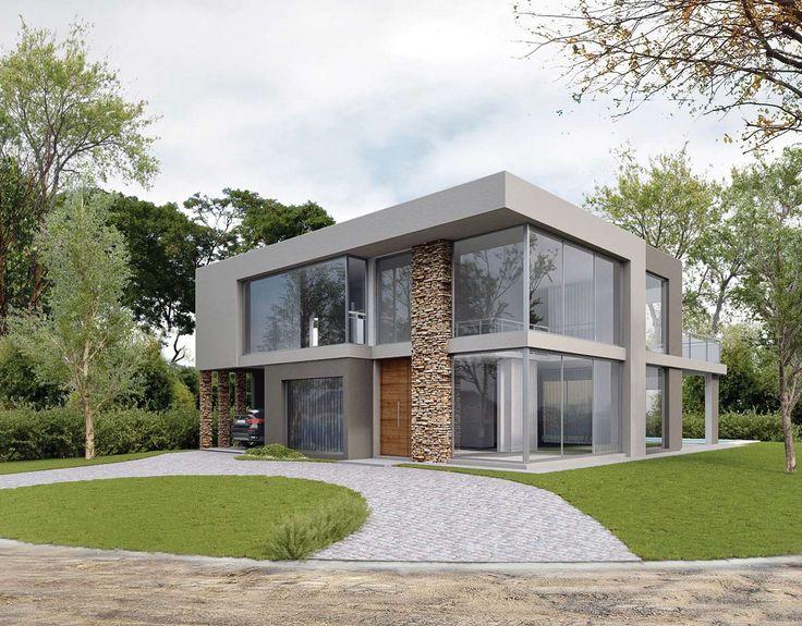 Casa de 273 m2 estilo actual racionalista en barrio cerrado de Buenos Aires del estudio NF y Asociados de la arquitecta Nadina Fabijanic