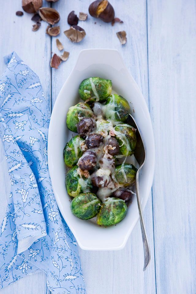 brussel sprouts and roasted chesnuts | Food/Beverages | Pinterest