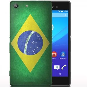 Coque drapeau Bresil Sony Xperia M5 Aqua. #phonecase #Bresil #Xperia #M5 #Sony #Etui