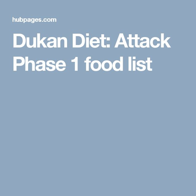 Dukan Diet Phase   Food List