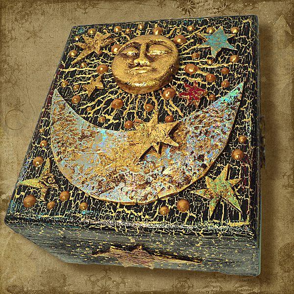 "Шкатулка ""Солнце и Луна"" - авторский МК Натальи Полех! - Ярмарка Мастеров - ручная работа, handmade"