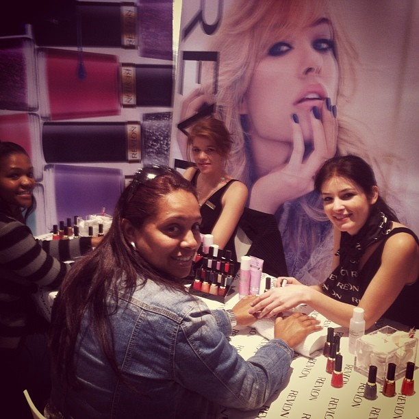 The fabulous @Revlon South Africa nail bar at TFG Head Office today.