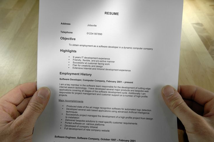 An Outline of What You Should Include In Your Resume