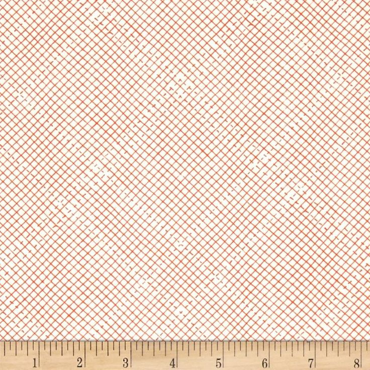 Kaufman Euclid Printed Linen Grid Tangerine from @fabricdotcom  From Carolyn Friedlander, this versatile linen blend fabric comes in wonderfully minimalist and modern designs and is perfect for a variety of projects. Use for quilting, jackets, vests, lined skirts, bags, home decor accents, and craft projects. Colors include orange and white.