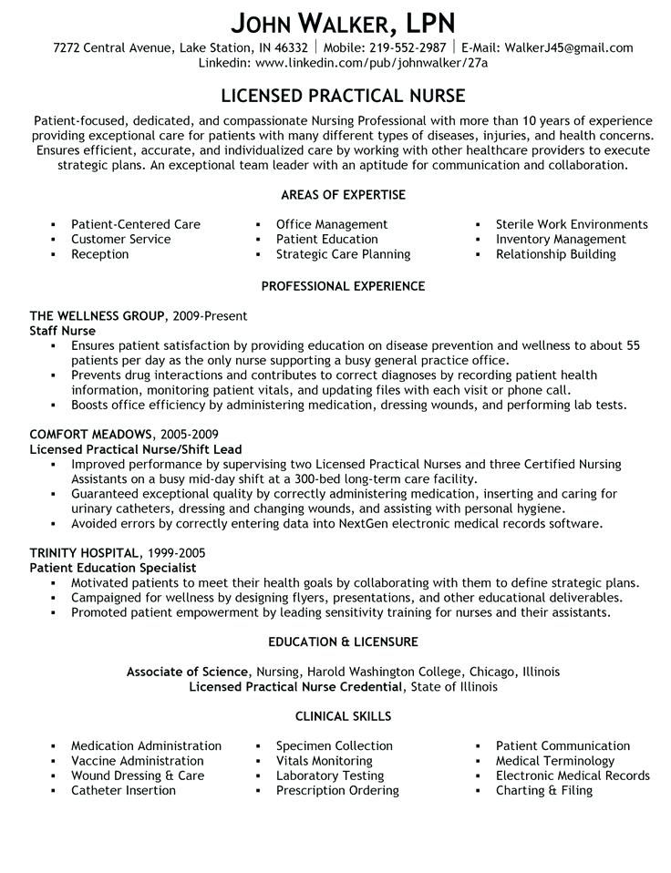 25 best Quotes images on Pinterest Nursing resume template - med surg nursing resume