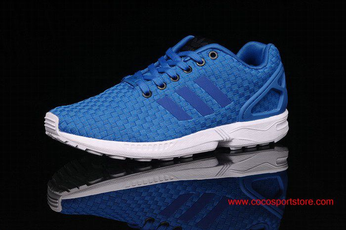 Adidas ZX Flux 3M Weave Blue White For Women Running Shoes