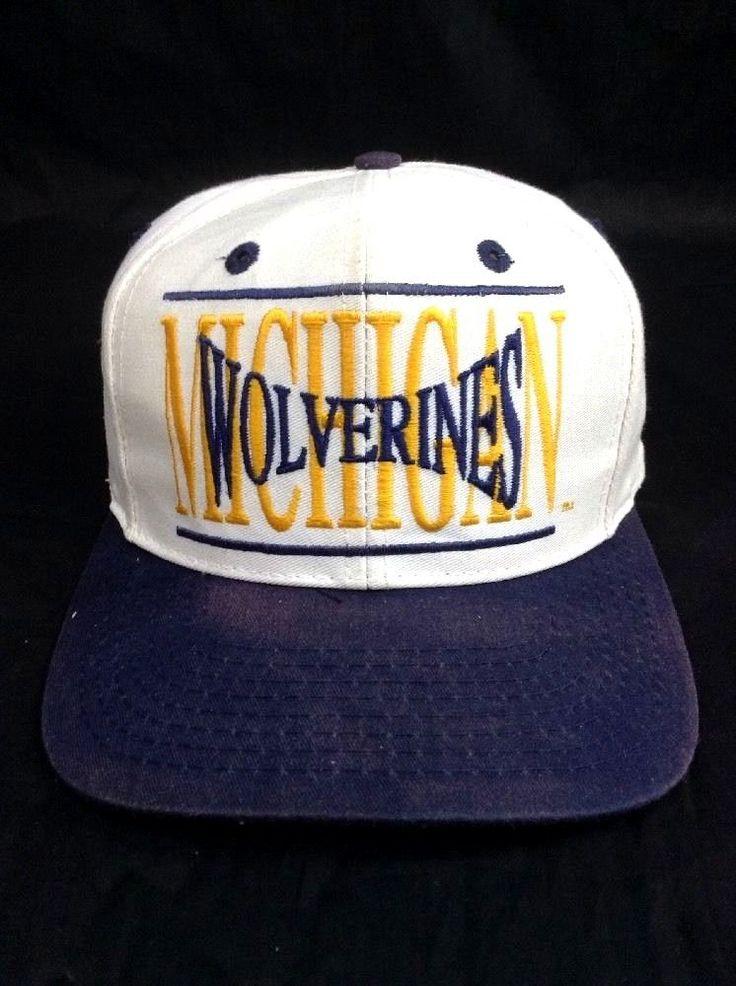 Michigan Wolverines Snapback Hat Vintage The Game Cap Bars Logo College  Football  TheGame  SnapbackHatBaseballCap 905f3704ba7a