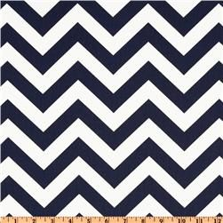 Premier Prints ZigZag Twill Blue.  Navy Chevron to do as an accent pillow on Kelly Green chair option.
