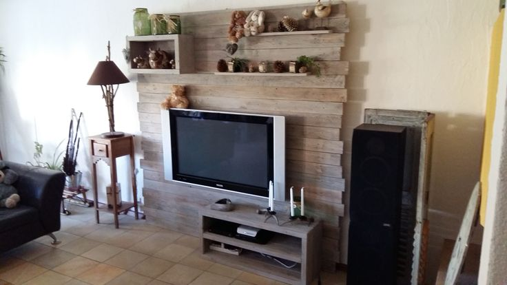 Pallet Entertainment Center Wall / Meuble Tv En Palette