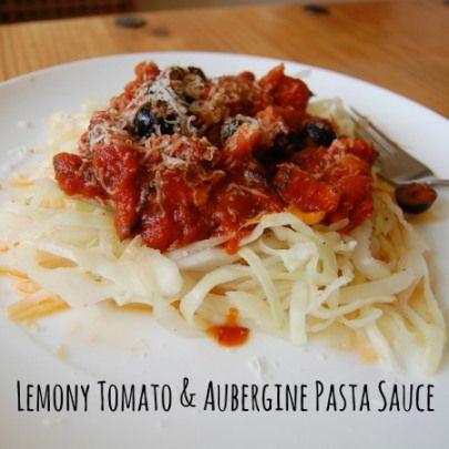 Lemony Tomato and Aubergine Pasta Sauce   I'm Counting UFOs