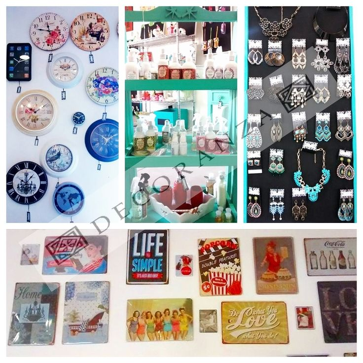 Latas de muro vintage  Relojes  Productos la Jacinta Cientos de accesorios #EstiloDCZ
