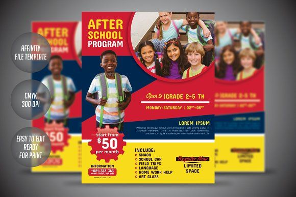 After School Program Flyer Template by meisuseno on @creativemarket
