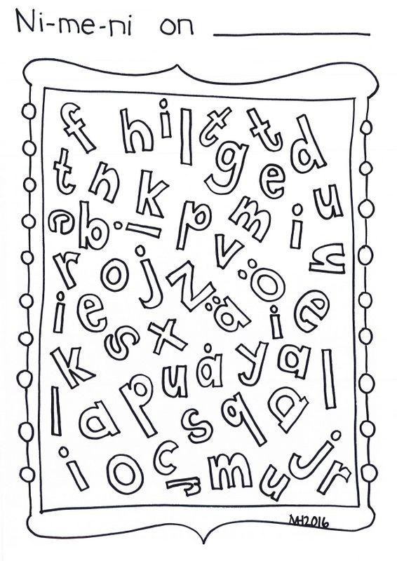 Nimeni kirjaimet - ekan luokan alkuun. Kirjoita nimesi ja väritä oman nimesi…