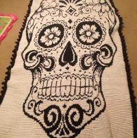 Crocheting : sugar skull graphghan