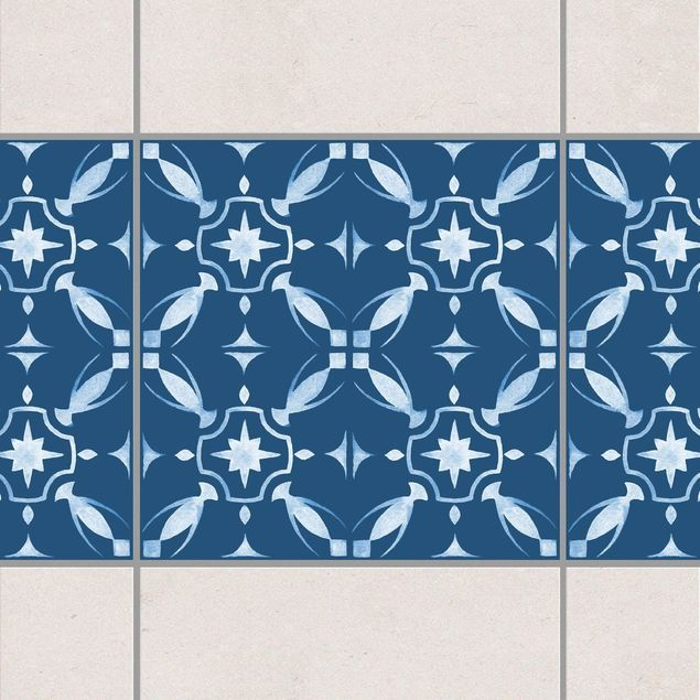 Fliesen Bordure Dunkelblau Weiss Muster Serie No 01 10cm X 10cm Fliesensticker Set In 2020 Fliesen Sticker Fliesenaufkleber Fliesen