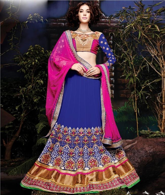 #Eid al-Fitr Sale:  Get Flat 12% Off & Extra Rs. 250 Discount Coupon. A perfect #Designer #LehengaCholi Collection to be worn at any #party or #wedding. Check more collection at: - http://www.shoppers99.com/bollywood/designer_lehenga_choli_collection