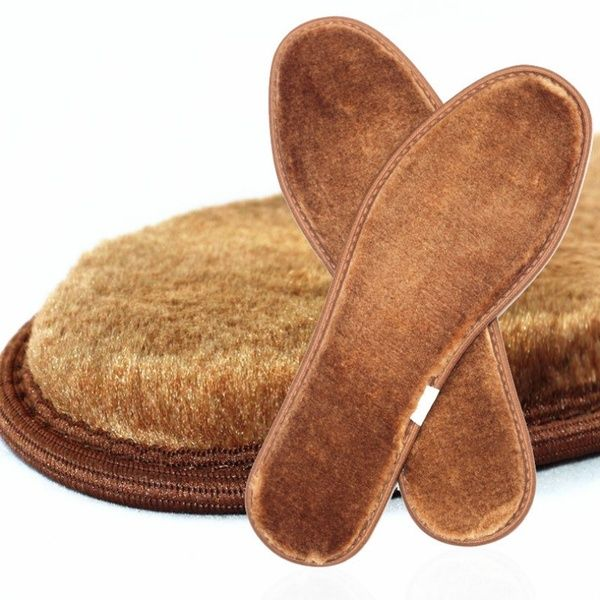 Warm Heated Insoles Soles For Shoes Winter Thick Pad Snow Boots Fur Insoles Pad.