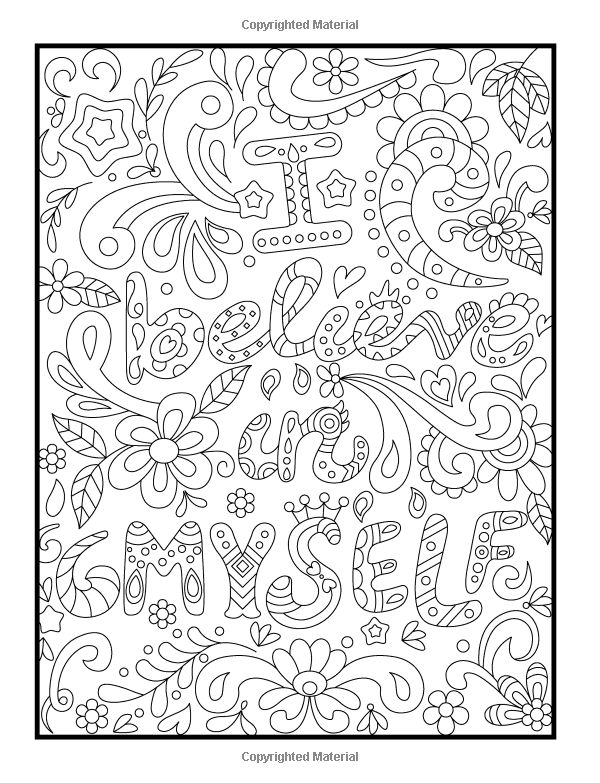 275 best words colouring pages for adults images on for Inspirational adult coloring pages