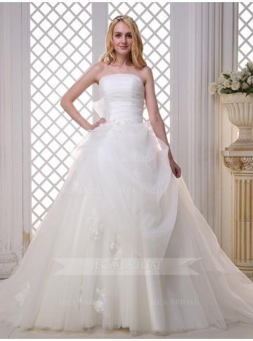 organza menyasszonyi ruha ujjatlan hercegnő szép olcsó divat