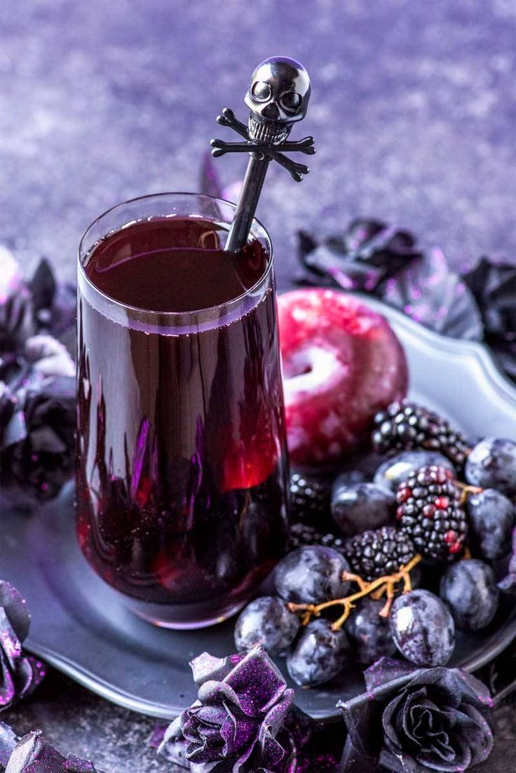 Black Magic Sangria! This black magic drink is a purple punch mixed with blackberries, black grapes, and black plums. Can be made tart (like a witch!) or spellbindingly sweet. GET THE RECIPE:...