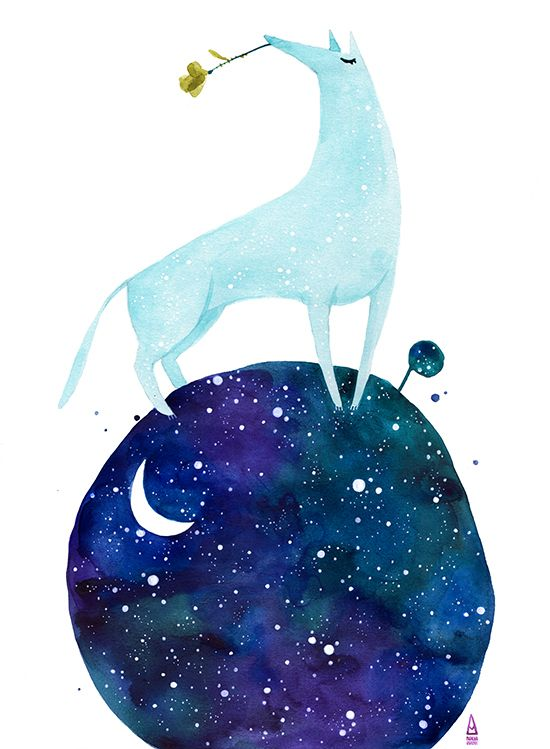 Constellation - series of small illustrations for postcards, by Madalina Andronic (2011)