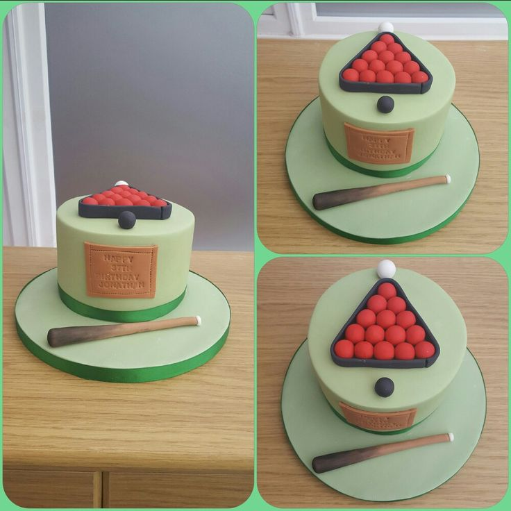 Snooker Themed Birthday Cakes