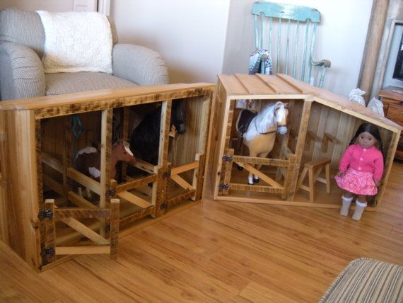 Horse Stable for American Girl Doll , very cool!