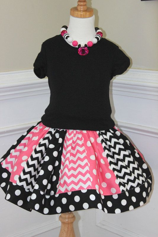 chevron skirt chevron outfit girls chevron by LightningBugsLane, $35.00